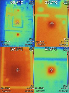 Thermal view of a naked Ettus B210 board.